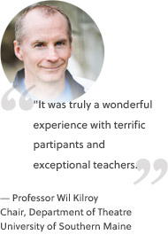 """It was truly a wonderful experience with terrific partipants and exceptional teachers."