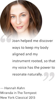 Joan helped me. - Hannah Kahn